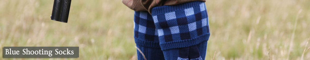 Blue Shooting Socks