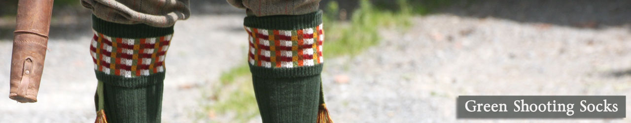 Green Shooting Socks