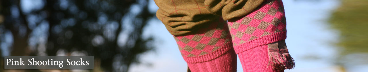 Pink Shooting Socks