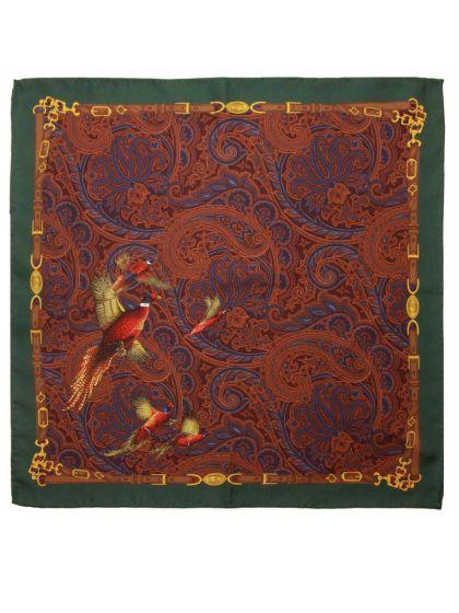 Atkinsons Pheasant Silk Pocket Square