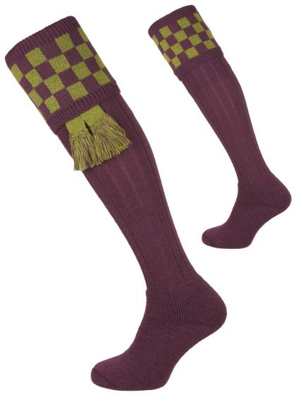 Thistle and Moss Bowmore Cushion Foot Shooting Sock