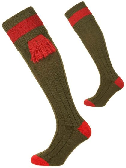 Pennine Shooting Socks, Byron Olive and Ruby