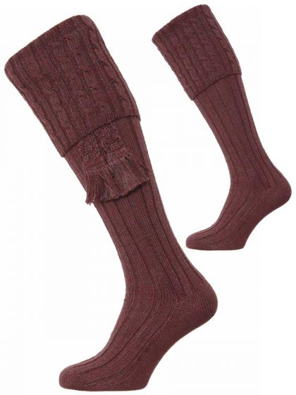 The Harris Marl Cable Shooting Sock