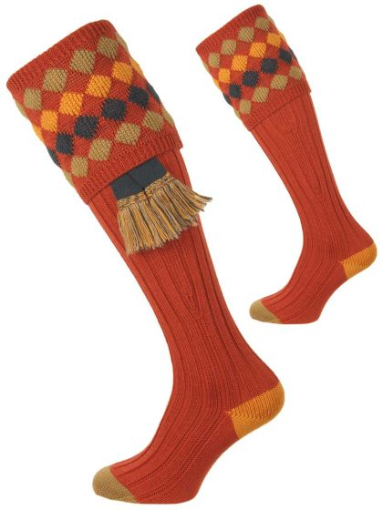 Maple, Kendal Merino Wool Shooting Sock