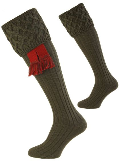 Spruce, Rannoch Merino Wool Shooting Sock