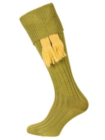 Humber Cotton Shooting Sock - Khaki