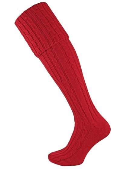 Skye Men's Cashmere Shooting Sock - Ruby