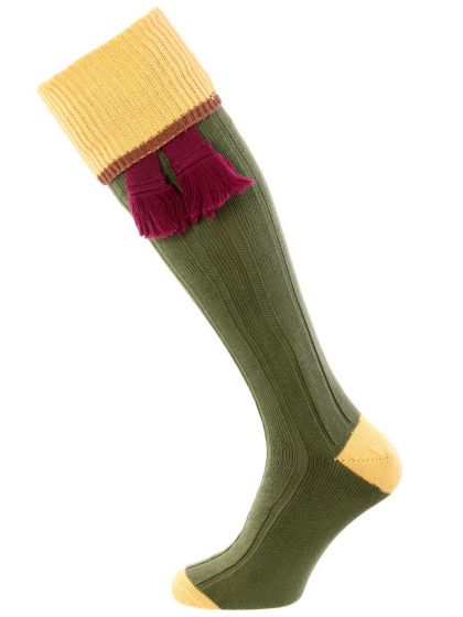 The Cobnash Tri-Colour Cotton Shooting Sock