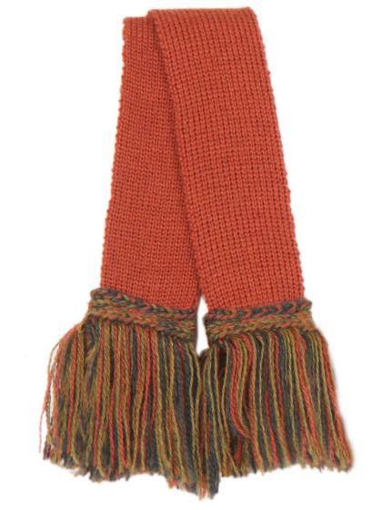 Shooting Sock Garter, Merino Wool, Maple Contrast