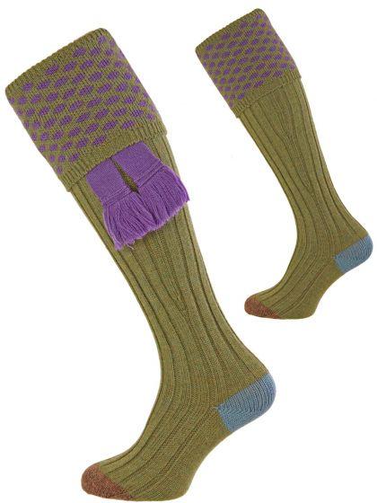 Viceroy, Old Sage - Fine Merino Shooting Sock from Pennine