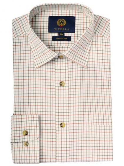 Viyella Men's Cotton Tattersall Checked Shirt
