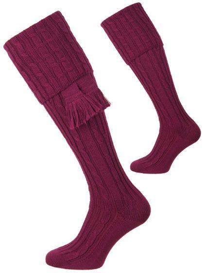 Bilberry, The Wye Merino Shooting Sock