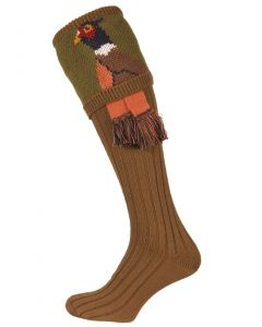 The Pheasant Shooting Sock - Khaki