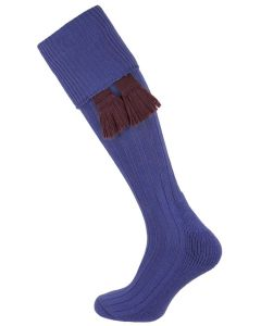 The Allensmore 'Royal Blue' Cotton Cushion Foot Shooting Sock
