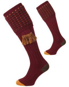 Pennine Socks, Ambassador Shooting Sock - Burgundy