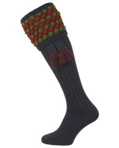 The Angus Navy, Merino Blend Shooting Sock