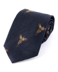 Atkinsons 'Soaring Pheasant' Wool & Silk Tie, Navy