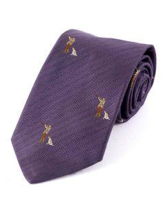 Atkinsons 'Man with Dog' Tie Wool & Silk, Heather