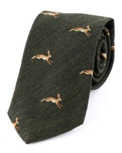 Atkinsons 'Hare' Wool & Silk Tie, Brown Green