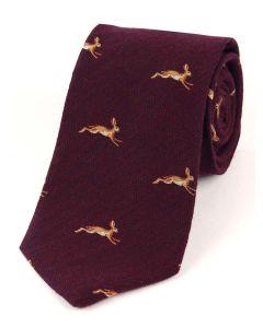 Atkinsons 'Hare' Wool & Silk Tie - Burgundy