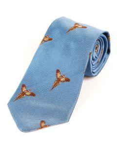 Atkinsons 'Soaring Pheasant' Silk Tie - Blue