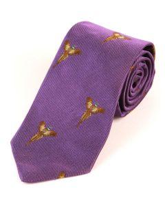 Atkinsons 'Soaring Pheasant Silk Tie - Violet