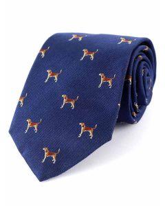Atkinsons 'Beagle' Silk Tie - Navy