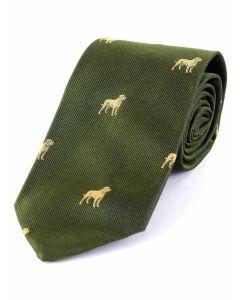 Atkinsons 'Labrador' Silk Tie-Green