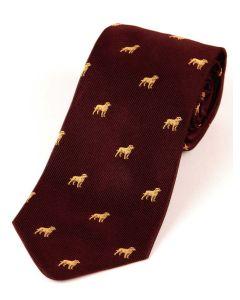 Atkinsons 'Labrador' Silk Tie -  Burgundy