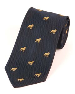 Atkinsons 'Labrador' Silk Tie - Navy