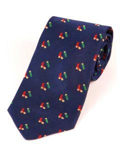 Atkinsons 'Cartridge' Silk Tie - Blue