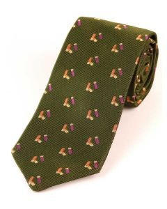 Atkinsons 'Cartridge' Silk Tie - Green