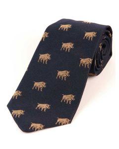 Atkinsons 'Boar' Silk Tie - Navy