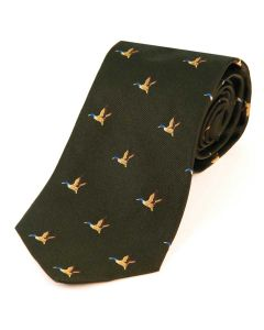 Atkinsons 'Flying Duck' Silk Tie - Green