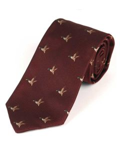 Atkinsons 'Flying Duck' Silk Tie - Port
