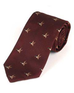 Atkinsons 'Flying Duck' Silk Tie - Port