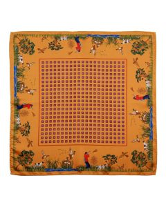 Atkinsons Silk Pocket Square - Burnt Gold
