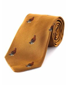 Atkinsons 'Standing Grouse' Silk Tie