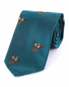 Atkinsons 'Soaring Pheasant' Silk Tie - Teal