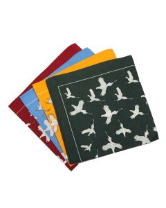 Pure Cotton Pheasant Print Hankies - Bottle Green, Canary, Wine & Sky Blue