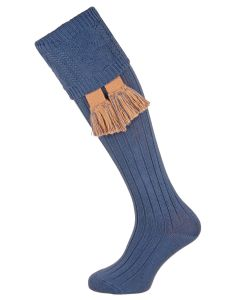 The Berrington Cotton Cable Top Shooting Sock, Narvik Blue