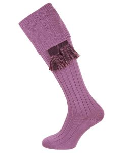 The Berrington 'Buddleia' Cotton Cable Top Shooting Sock