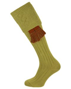 The Berrington 'Khaki' Cotton Cable Top Shooting Sock
