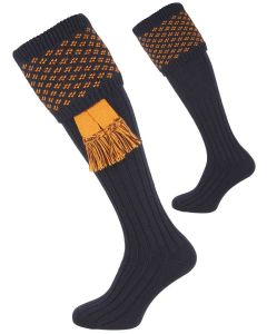 The Boughton 'Navy & Ochre' Shooting Sock