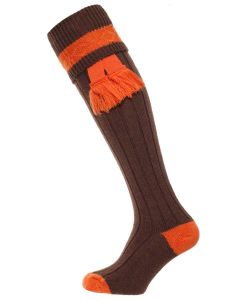 The Byron Wool Shooting Sock - Pecan