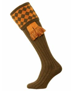The Chessboard Shooting Sock - Bracken & Ochre