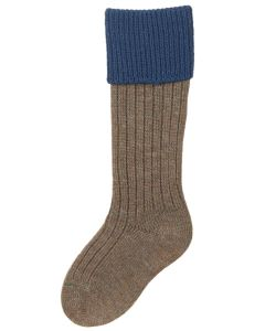 Children's Shooting Sock - Derby Tweed & Mid Blue