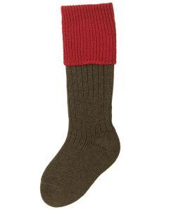 Children's Shooting Sock - Spruce & Brick Red