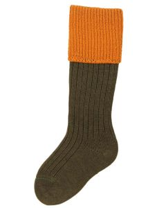 Children's Shooting Sock, Spruce & Ochre