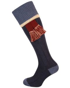 The Cobnash 'Midnight & Ink Marl' Cotton Shooting Sock